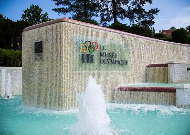 Olympic Museum - water fountain