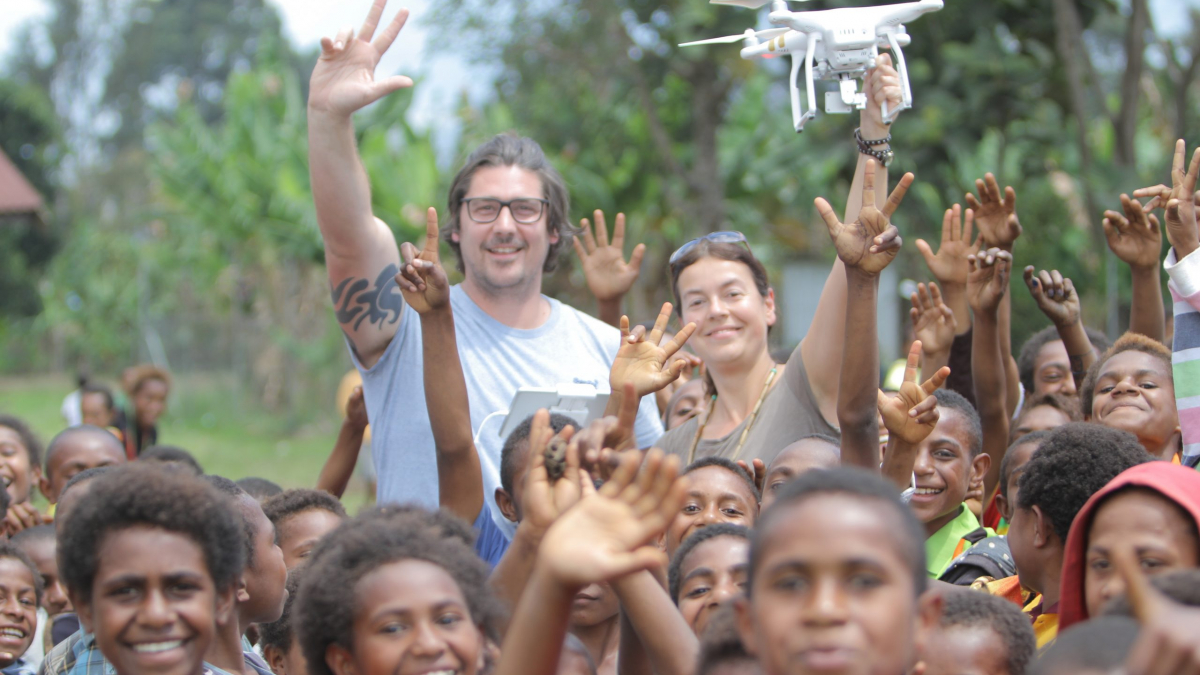 Filming Power Meri aerial shots with a rarely-seen drone in the PNG highlands